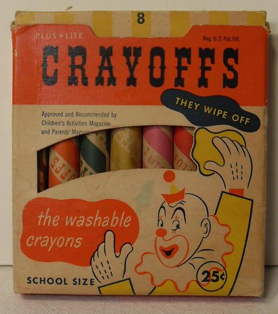 Crayoffs Vintage Box of Crayons 1950s