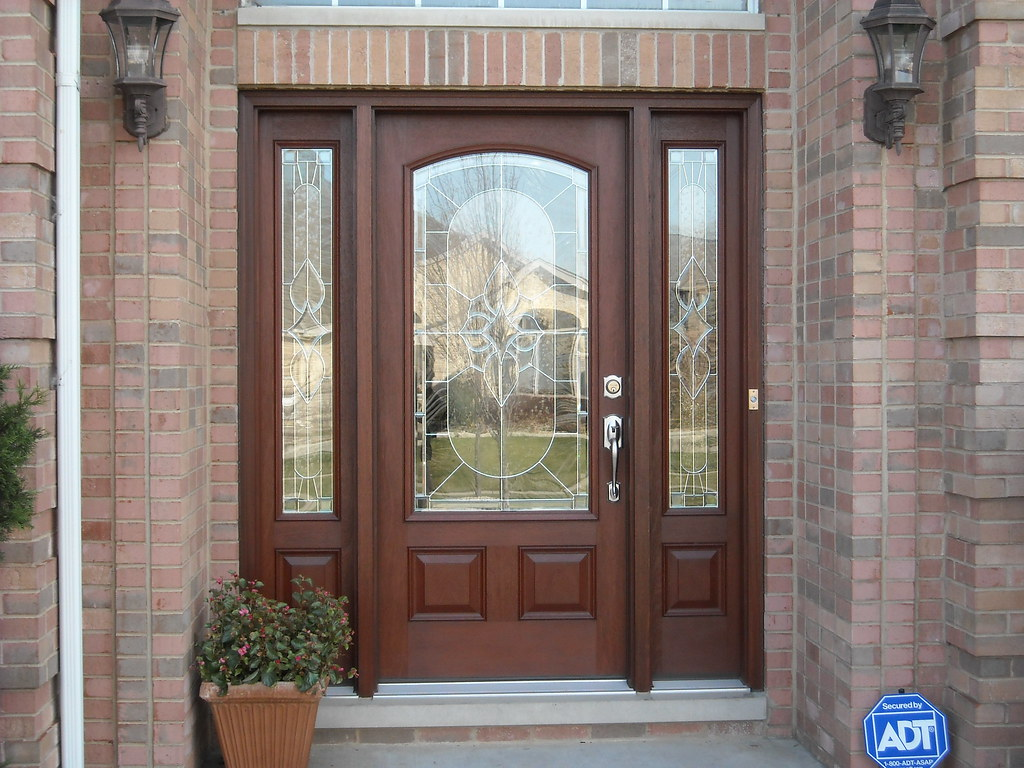 768 #2856A3 Thermatru Entry Door Thermatru Classic Craft Mahogany Entr  save image Fiberglass Entry Doors With Sidelites 42671024