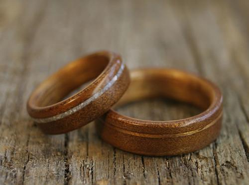 ancient kauri and koa wedding rings - Artisan Wedding Rings