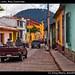 Pickup with seats, Xela, Guatemala