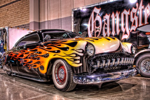 Chopped Gangster Hot Rod at the Easyriders Show in Charlotte