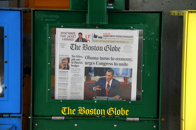 Boston Globe, jan 28 2010