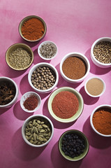 Spices on Pink