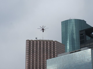 helicopter downtown houston