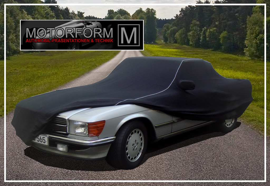 Mercedes sl 107 luxus car cover ganzgarage r107 w107 ebay for Mercedes benz car covers