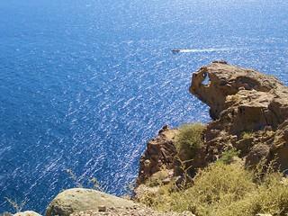 cliff on Santorini