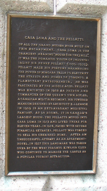 Photo of Henry Pellatt and E. J.  Lennox bronze plaque