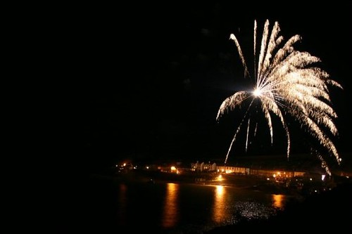 Epic Fireworks - Huge Silver Palms on the beach