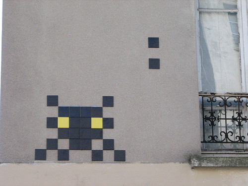 Space Invader PA_828 : Paris 20eme