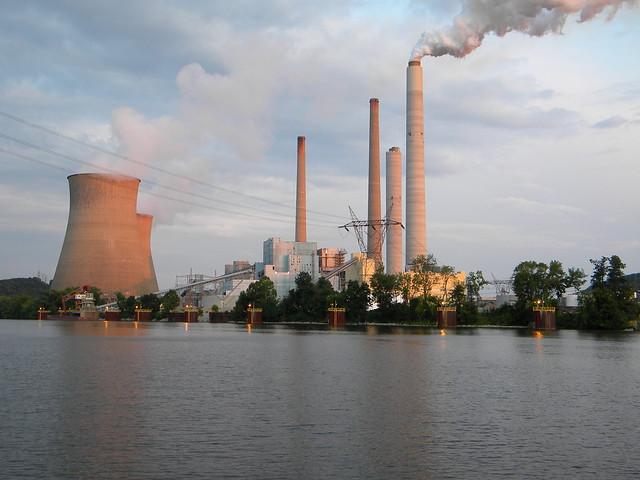 Near Poca West Virginia: The John Amos Power Plant at Sunset