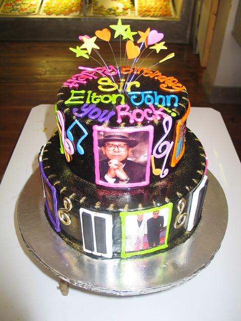 Cake Images For Sir : Sir Elton John s birthday cake Flickr - Photo Sharing!