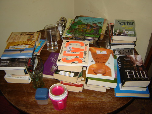 One of the many book tables.