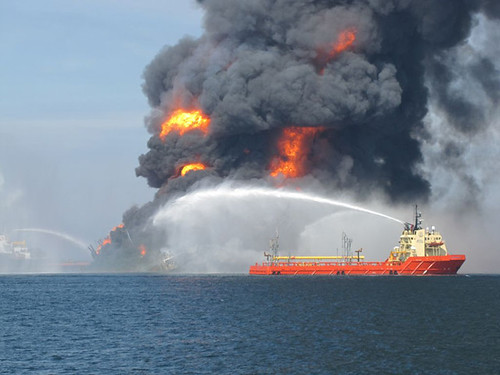 Fire In The Gulf: BP ducks being tarred with oil disaster tag by Leonard Doyle