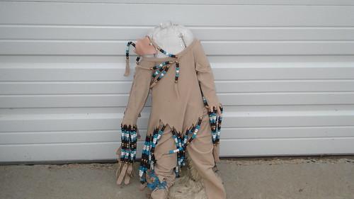 Chaska Building Center - A strange, headless Indian doll (I Think)