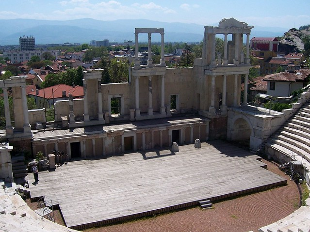 Roman theatre (built in the 2nd century AD on the orders of emperor Trajan), Plovdiv, Bulgaria