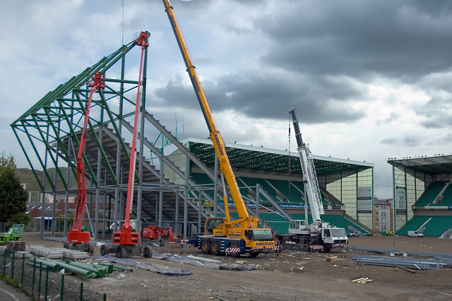 East Stand Construction 009