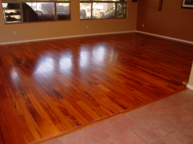 Brazilian Cherry, Tigerwood or Imperial Tigerwood over radiant heat ...