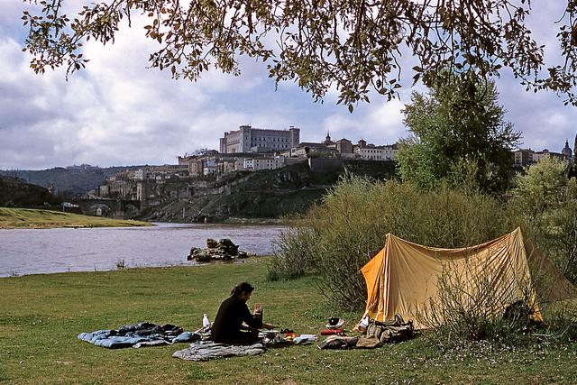 Toledo visto desde la Playa de Safont en abril de 1958. Fotografía de Jean Paul Margnac
