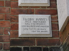 Photo of Tubby Hayes white plaque