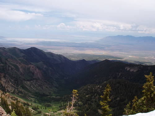 Northeast view toward Dry Lake Fork from the summit of Deseret Peak