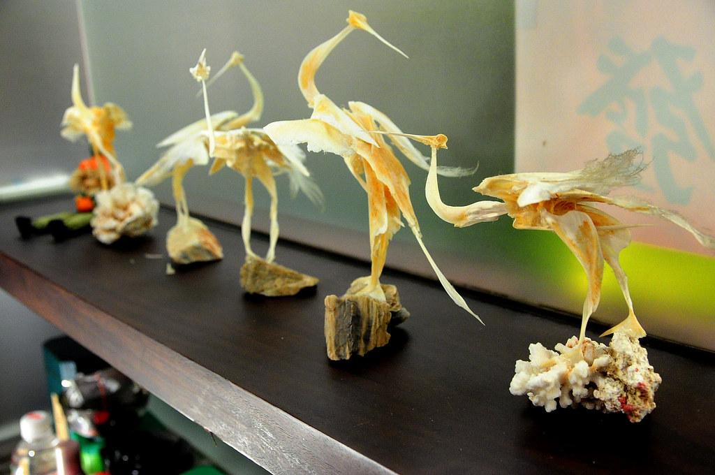 大鵬灣食堂-魚骨魚翅做成的動物模型