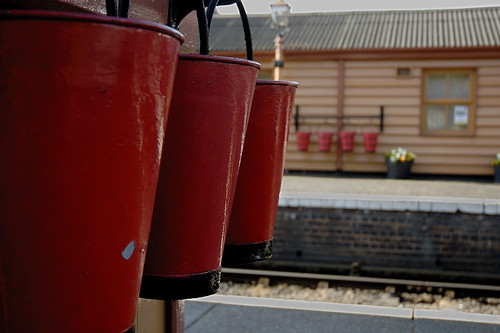 Bewdley station fire buckets
