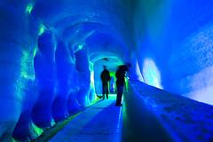 ice cave, ice hotel, ice, blue,