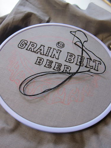 #156 - Grain Belt Sign Embroidery