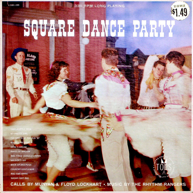Munyan and Floyd Lockhart w/ The Rhythm Rangers - Square Dance Party album cover