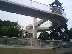 handrail, overpass, bridge,