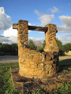 Water well at Mission San José in San Antonio, Texas