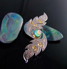ear(0.0), earrings(0.0), opal(1.0), yellow(1.0), gemstone(1.0),