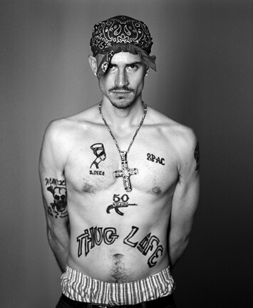Tom sanford the days of yore for Thug life tattoo tupac