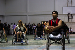 wheelchair sports(1.0), disabled sports(1.0), sports(1.0), competition event(1.0), wheelchair basketball(1.0), basketball(1.0), athlete(1.0), tournament(1.0),