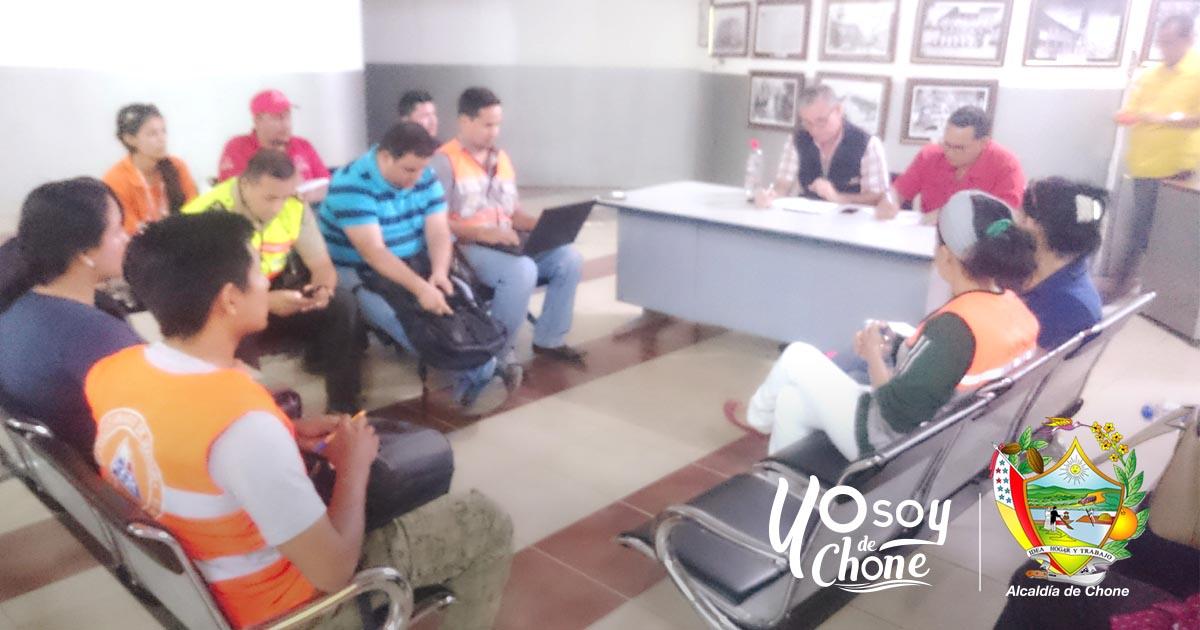 El COE Chone se reunió e hizo evaluaciones tras el seísmo de 6.3 en Manabí