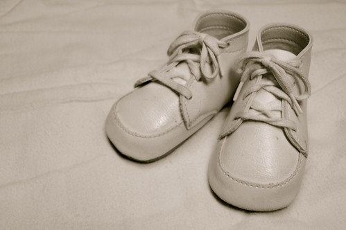 1970 Baby Shoes and Blanket
