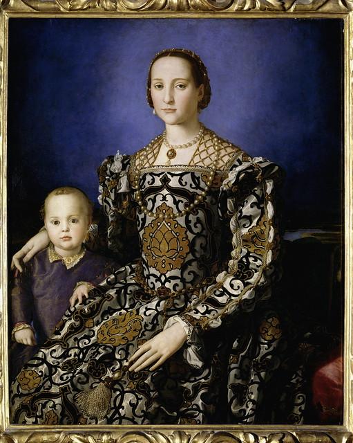 Agnolo Bronzino - Eleonora of Toledo with her son Giovanni de' Medici  - Firenze, Uffizi