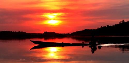 sunset brazil beautiful rio brasil sunrise river boat negro selva amazonas amazonia caboclo