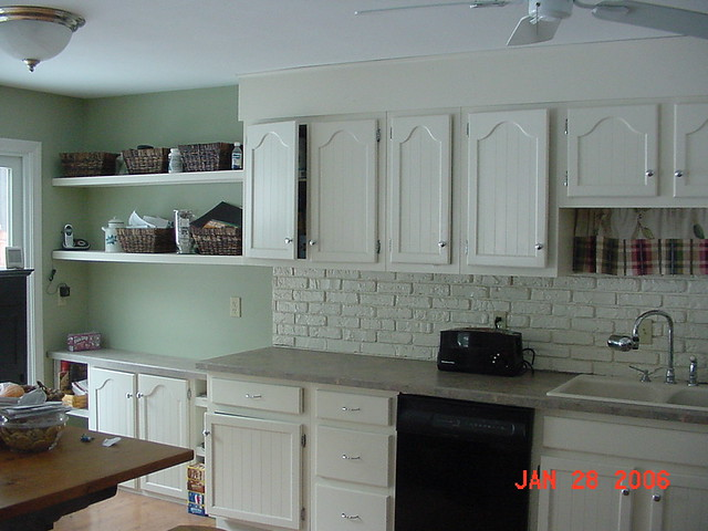 Kitchen Cabinets Faux Brick Painted Flickr Photo Sharing