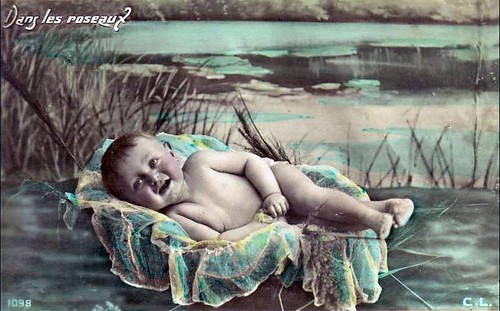 bimbo in cartolina antica