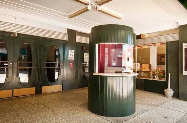 box office, Kirby Theater (1949), 215 North Main Street, Roxboro, North Carolina (1855) pop. 8,667