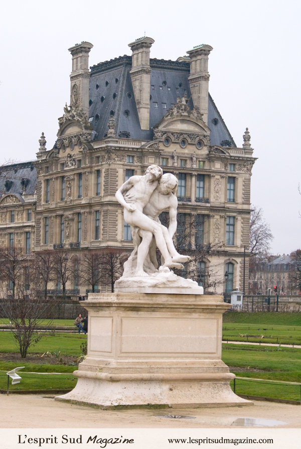 Sculpture on the Grand Carré (Louvre Museum)