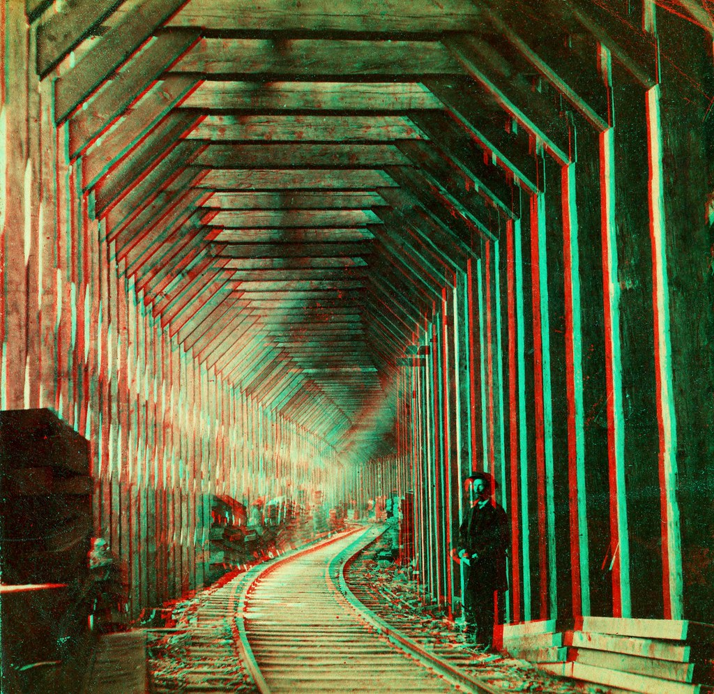 Snow Gallery Central Pacific Railroad anaglyph3D | ANAGLYPH