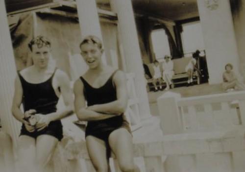 1930s handsome men beach swimsuits tank top singlet flickr photo