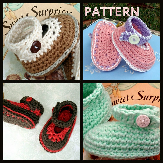Crochet Baby Ankle Booties Free Pattern : Crochet pattern ankle straps baby booties - a photo on ...