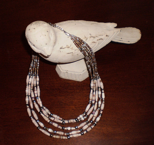 Necklace made from the January Anthropologie catalogue, project #4