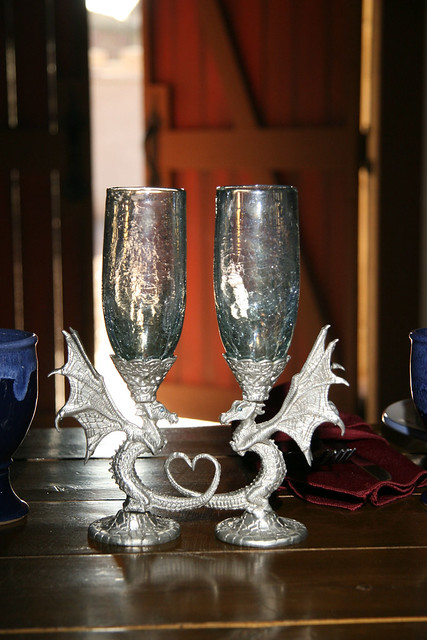 Our Dragon Toasting Goblets These Were Made For Us By