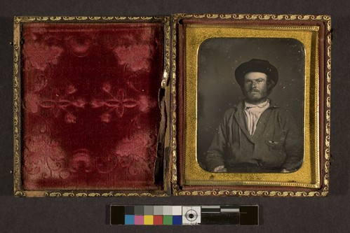 Portrait of unidentified man, possibly California miner