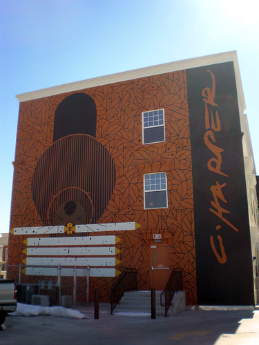 Charley Harper Beaver Mural @ The Greene