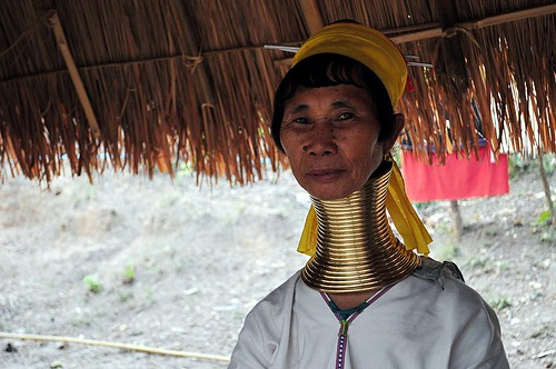 padong tribe woman